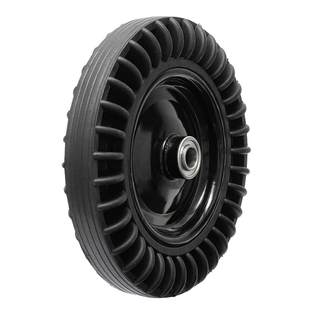 Roda de borracha maciça 3.25-8 eixo 1 polegada rolamento esfera Ajax