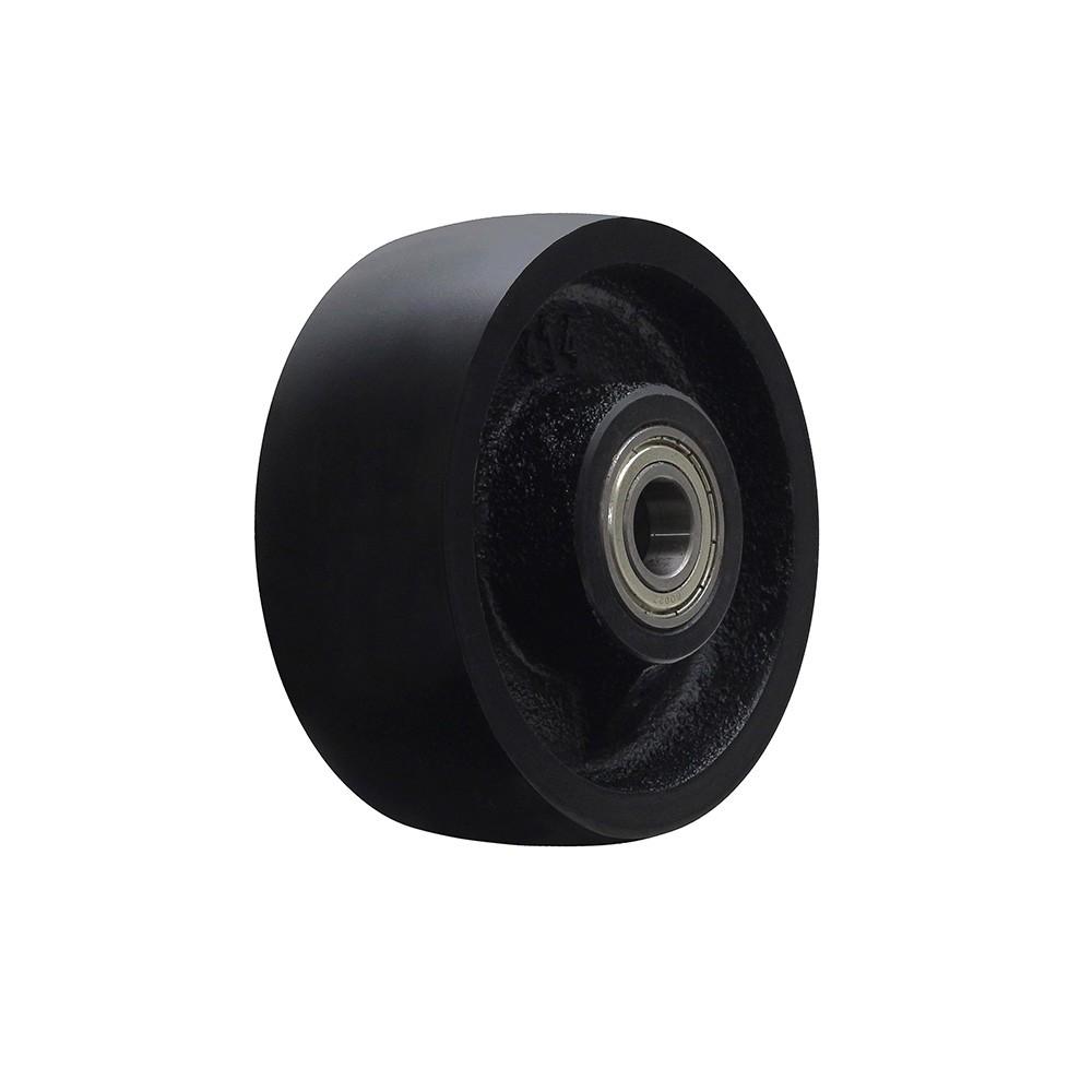Roda de ferro cinzento r414 com rolamento 6002 mademil