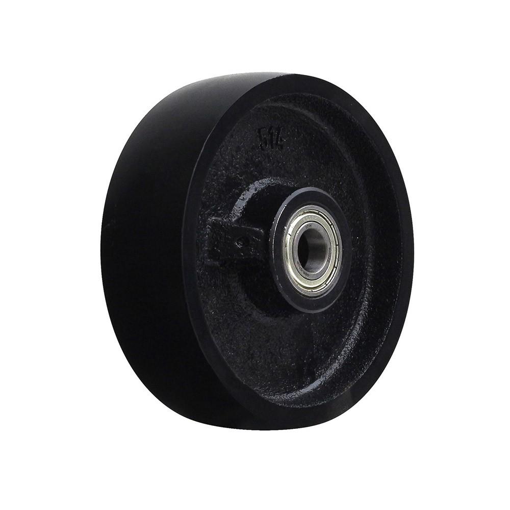 Roda de ferro cinzento r514 com rolamento 6002 mademil