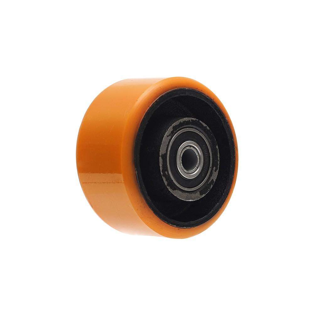Roda de poliuretano pu42 4 polegadas com manga ajax