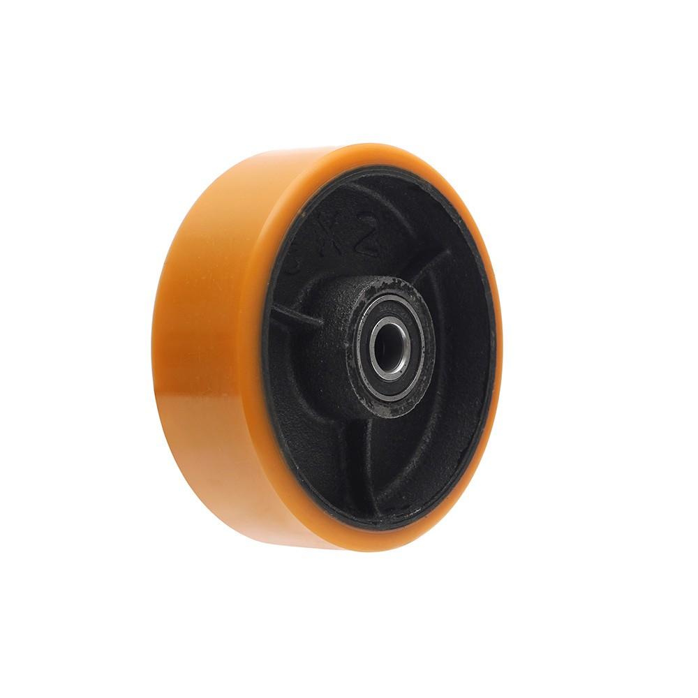 Roda de poliuretano pu62 6 polegadas com manga ajax