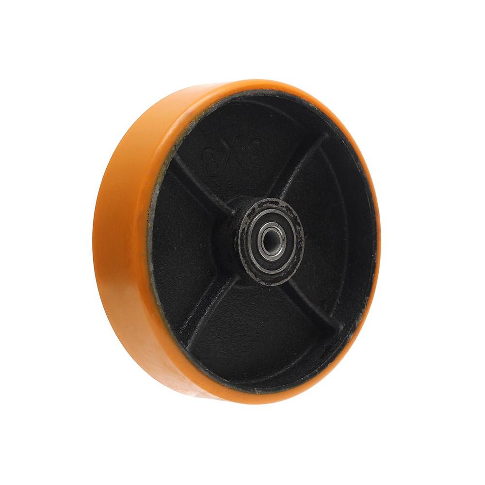 Roda de poliuretano pu82 8 polegadas com manga ajax