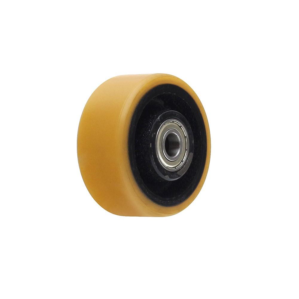 Roda de poliuretano r312 com rolamento 6001 mademil