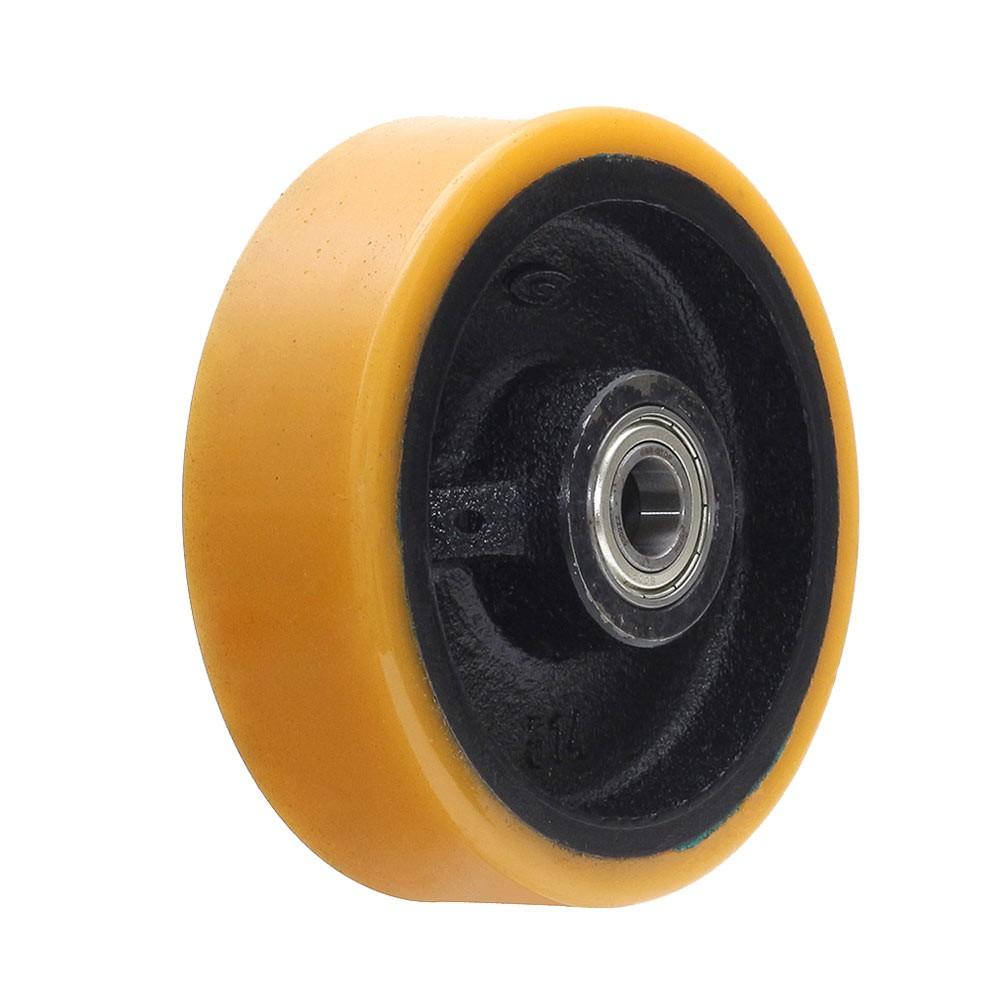 Roda de poliuretano r514 com rolamento 6002 mademil