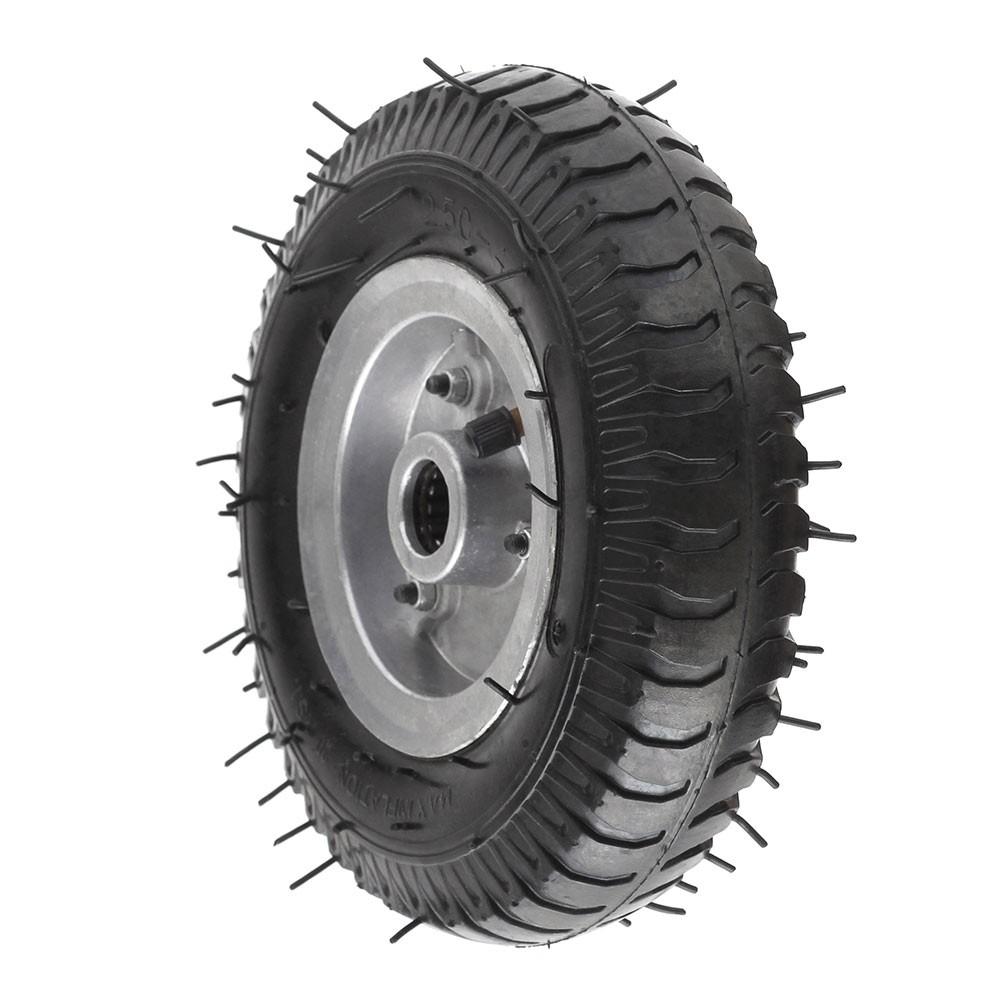 Roda pneumatica aro 4 para carrinho de carga 2.50-4 7/8 aluminio