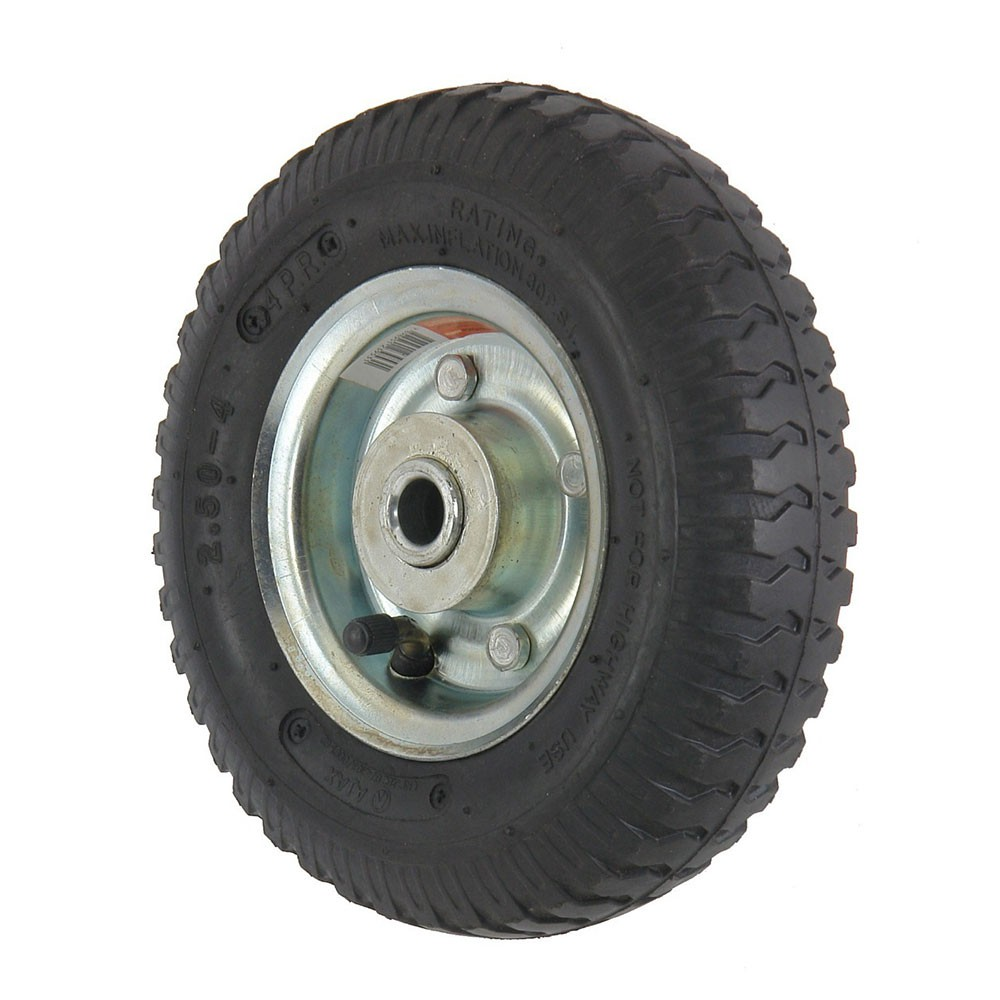 Roda pneumatica aro 4 para carrinho de carga 2.50-4 / 8x2 3/4