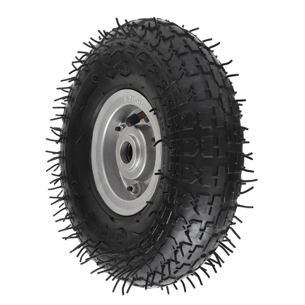 Roda pneumatica aro 4 para carrinho de carga 4.10/3.50-4 aluminio