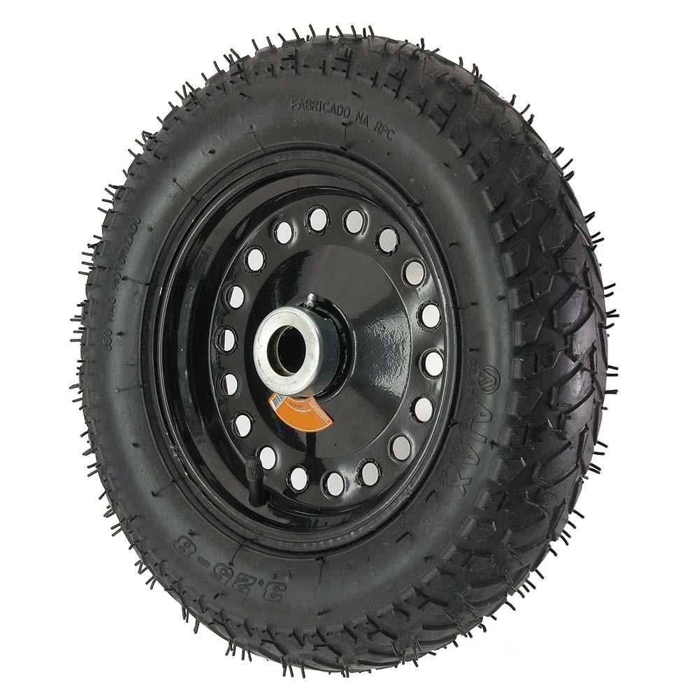 Roda pneumatica aro 8 3.25-8 carrinhos gerais 150 kg
