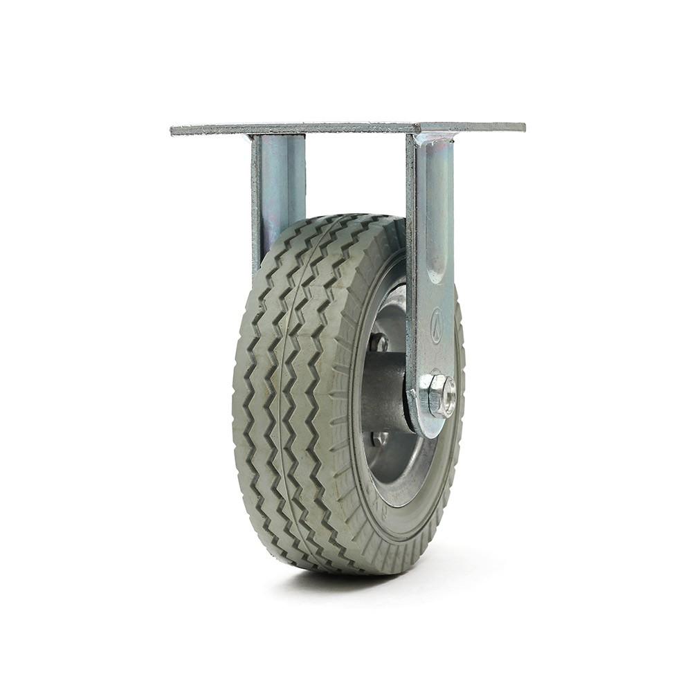 Rodizio fixo roda 6x2 maciça 100 kg ajax