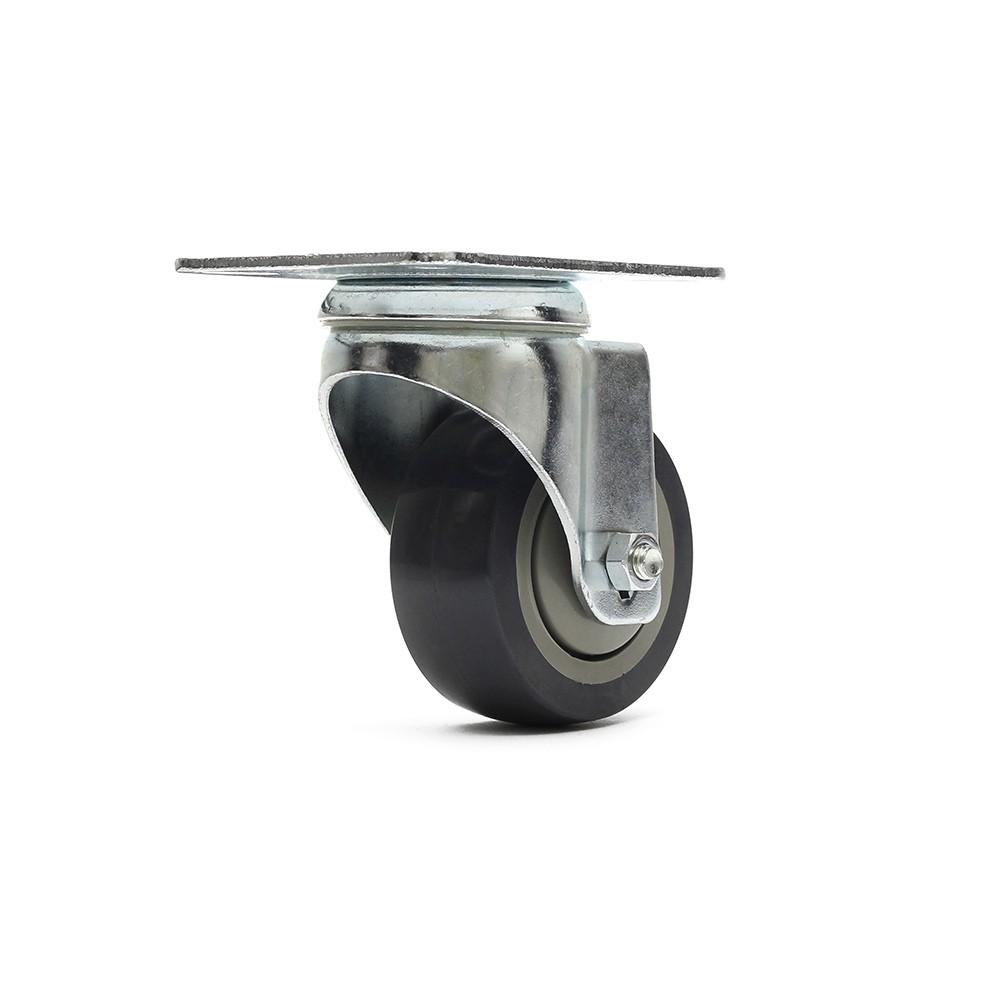 Rodizio giratorio gl312bpe roda termoplastica simples ajax