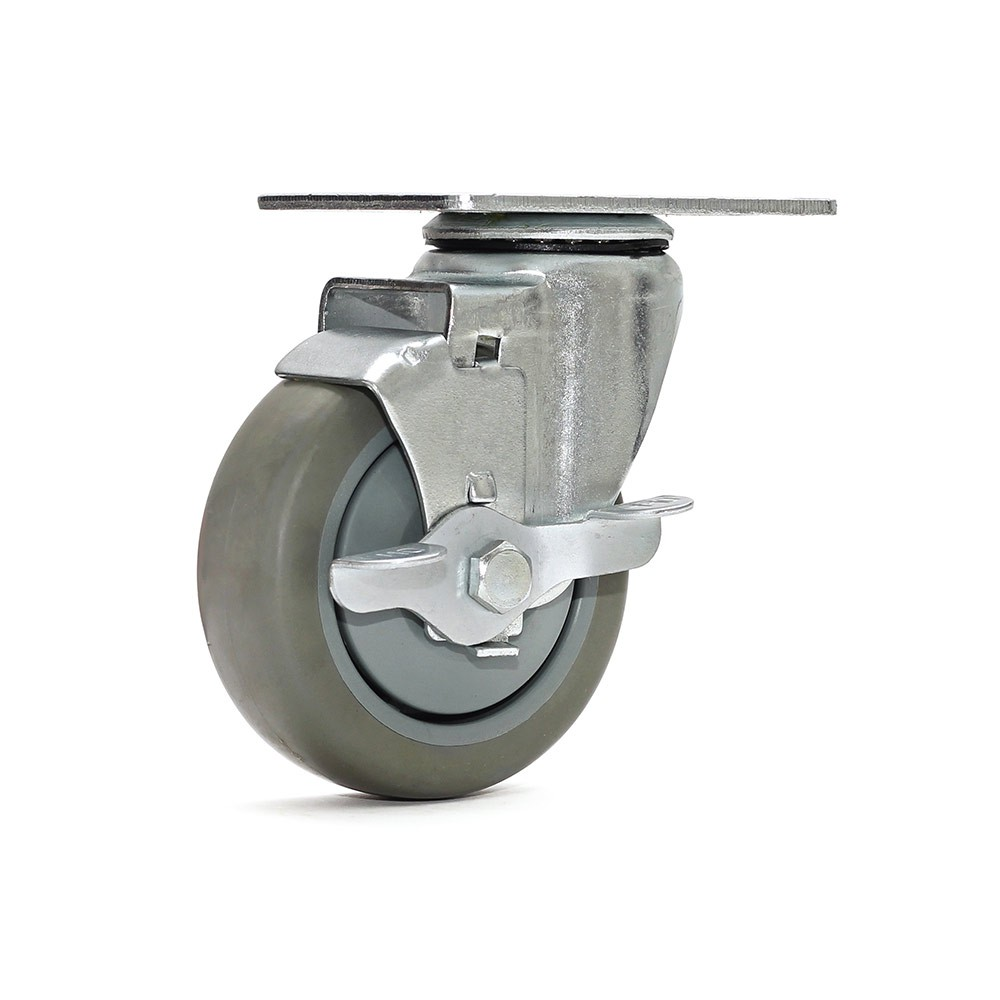 Rodizio giratorio gl412bpef termoplastica com freio simples ajax