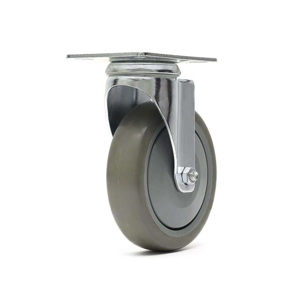 Rodizio giratorio gl512bpe roda termoplastica simples ajax