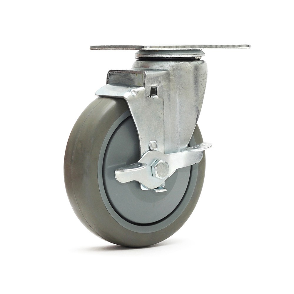 Rodizio giratorio gl512bpef termoplastica com freio simples ajax