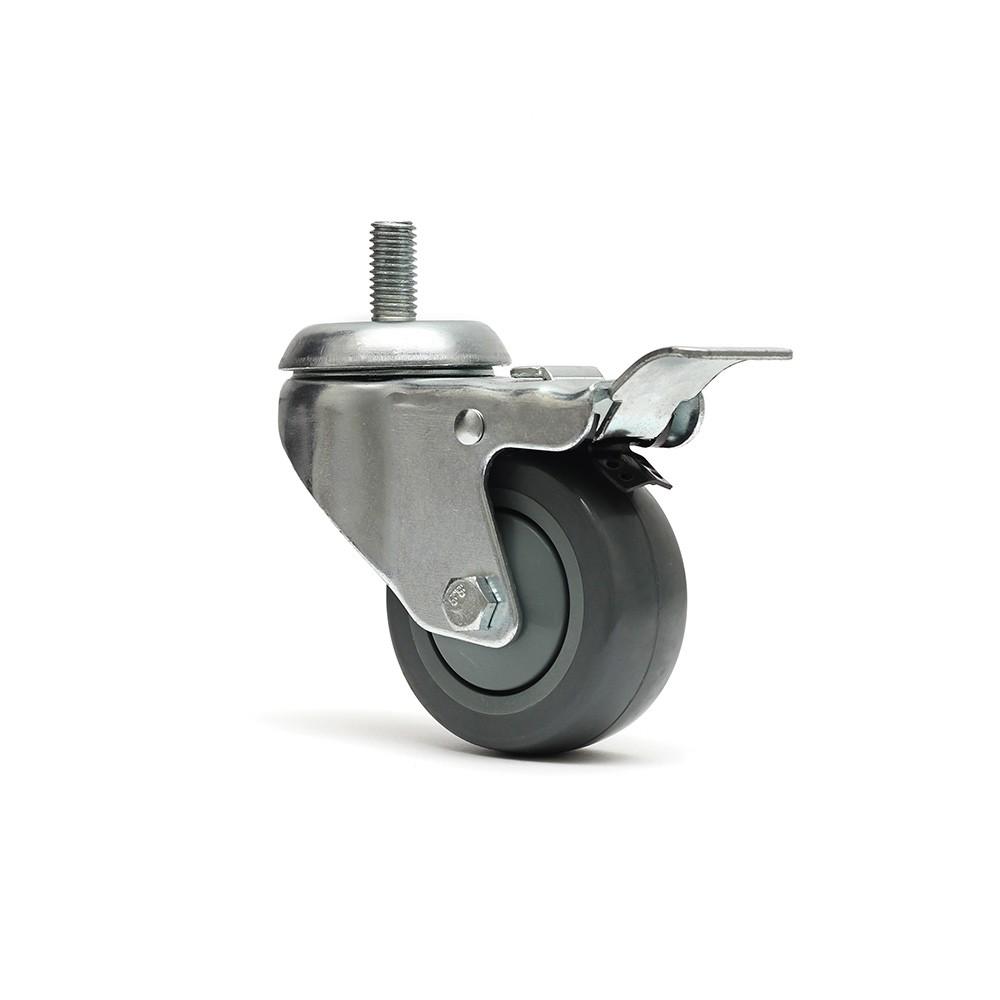 Rodizio giratorio glr312bpft termoplastica rosca freio total ajax