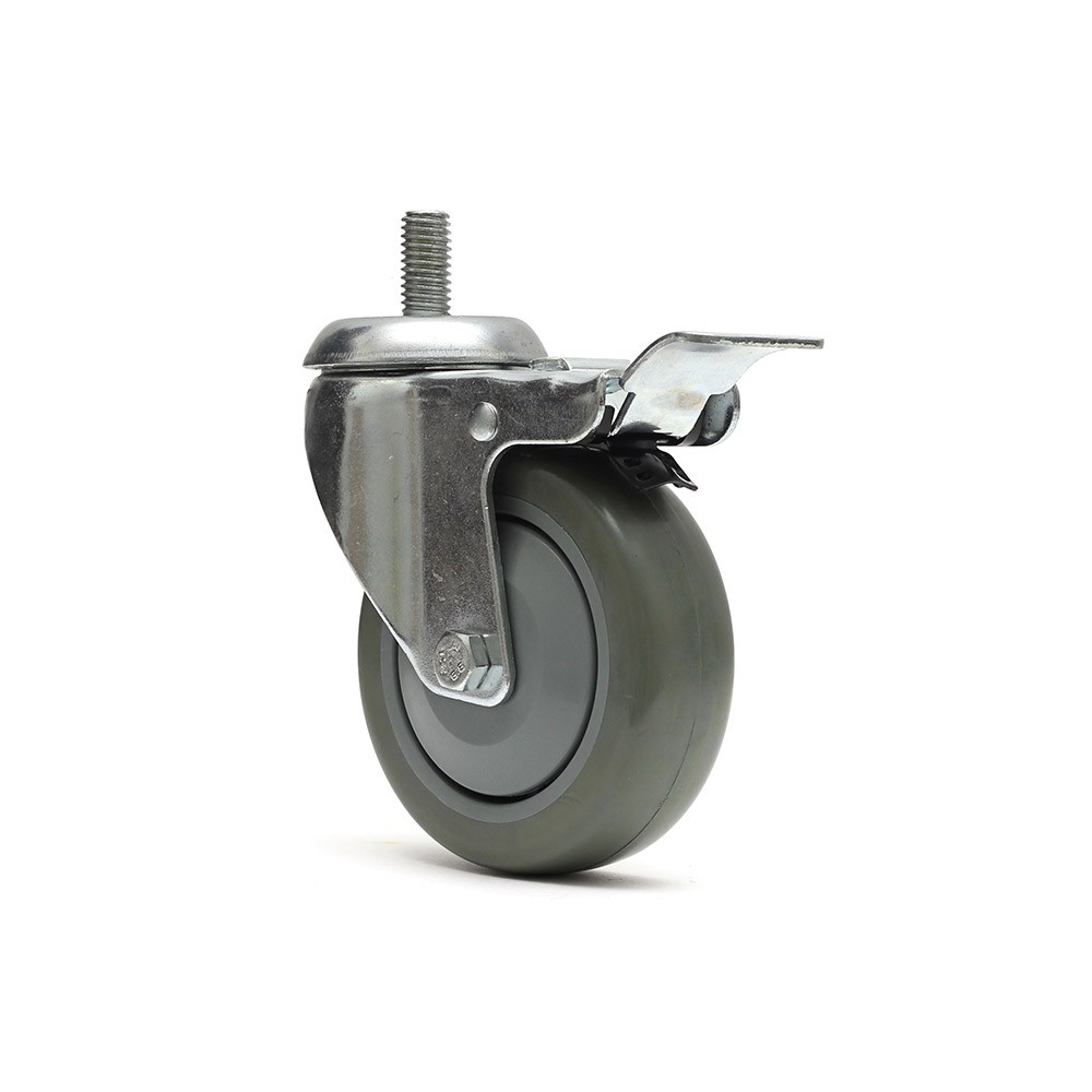 Rodizio giratorio glr412bpft termoplastica rosca freio total ajax
