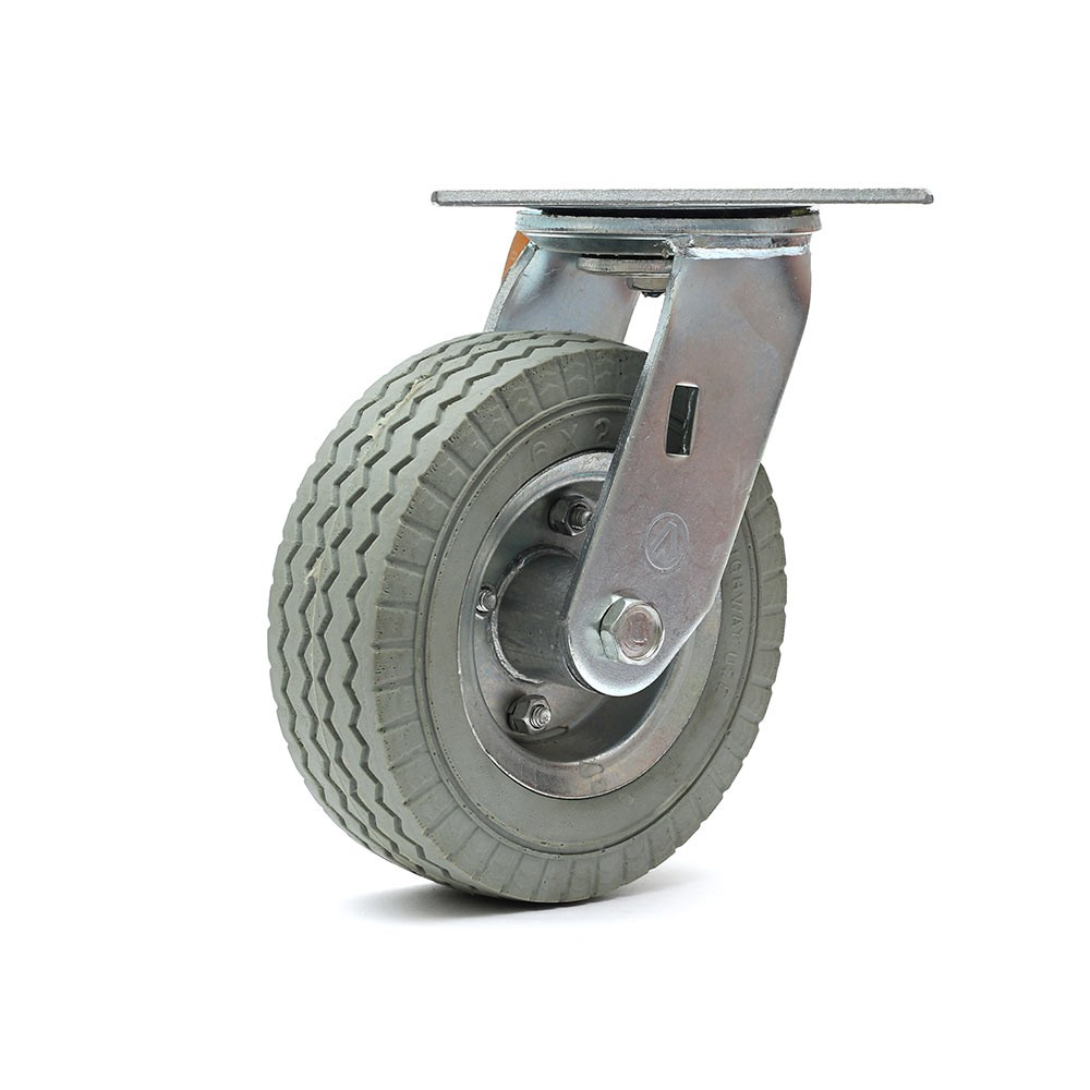 Rodizio giratorio roda 6x2 maciça 100 kg ajax