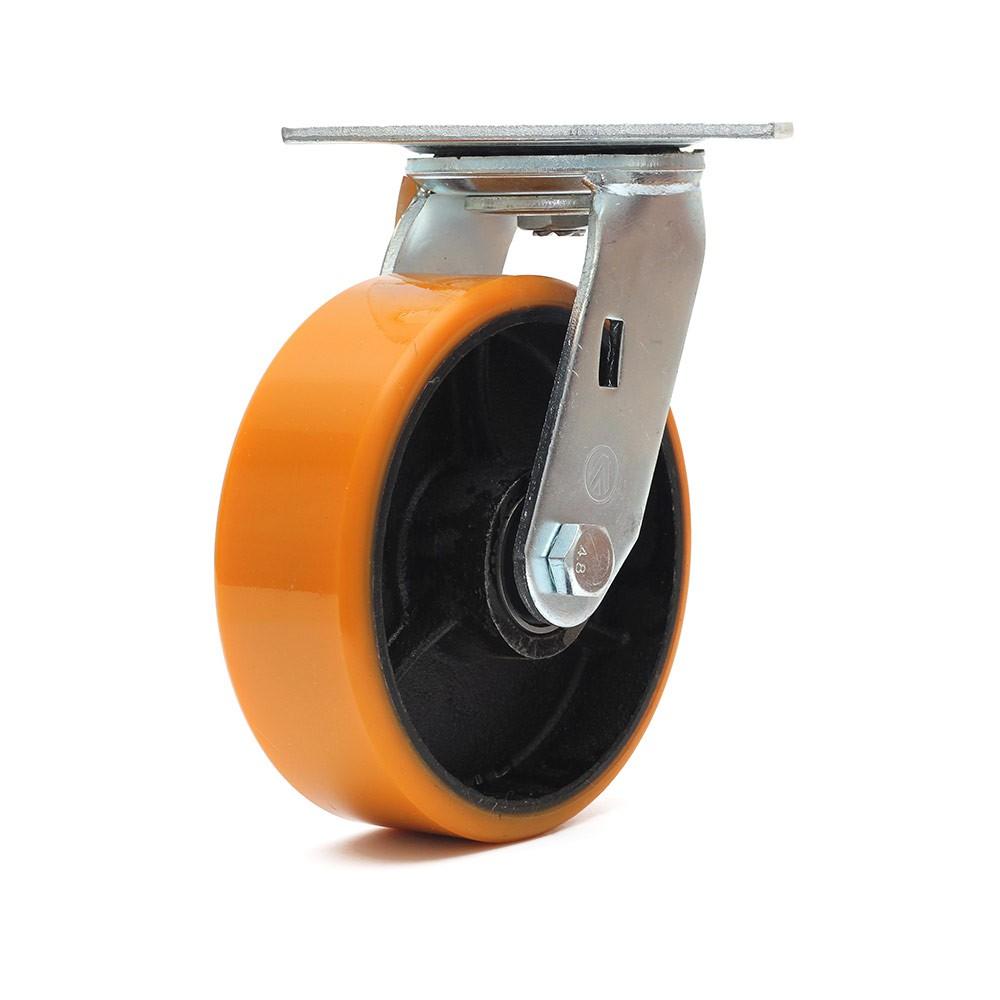 Rodizio giratorio simples 6 polegadas poliuretano 400 kg ajax