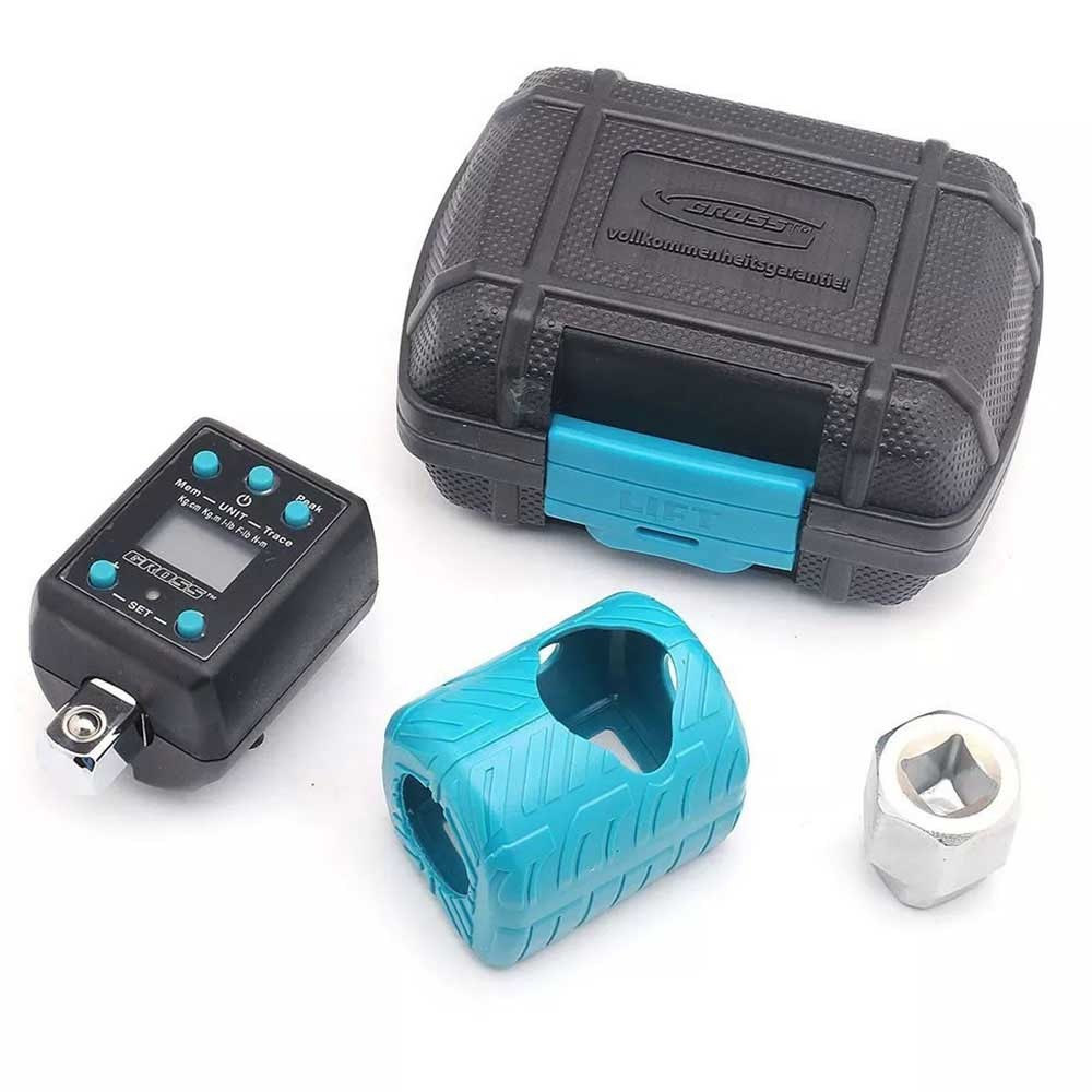 Torquímetro digital eletrônico com adaptador 1/2 para catraca Gross