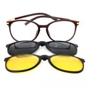 Armação de Óculos de Grau Clipon Unissex