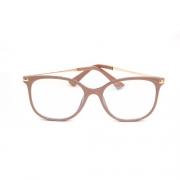 Armação de Óculos de Grau Feminino Nude
