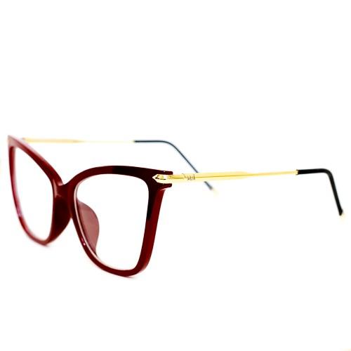 Armação de Óculos de Grau Feminino Italy Design  - Marsala