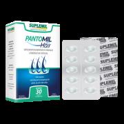 PantoMil Hair - Suplemento Alimentar de Vitaminas e Minerais para cabelo, pele e unhas. c/30