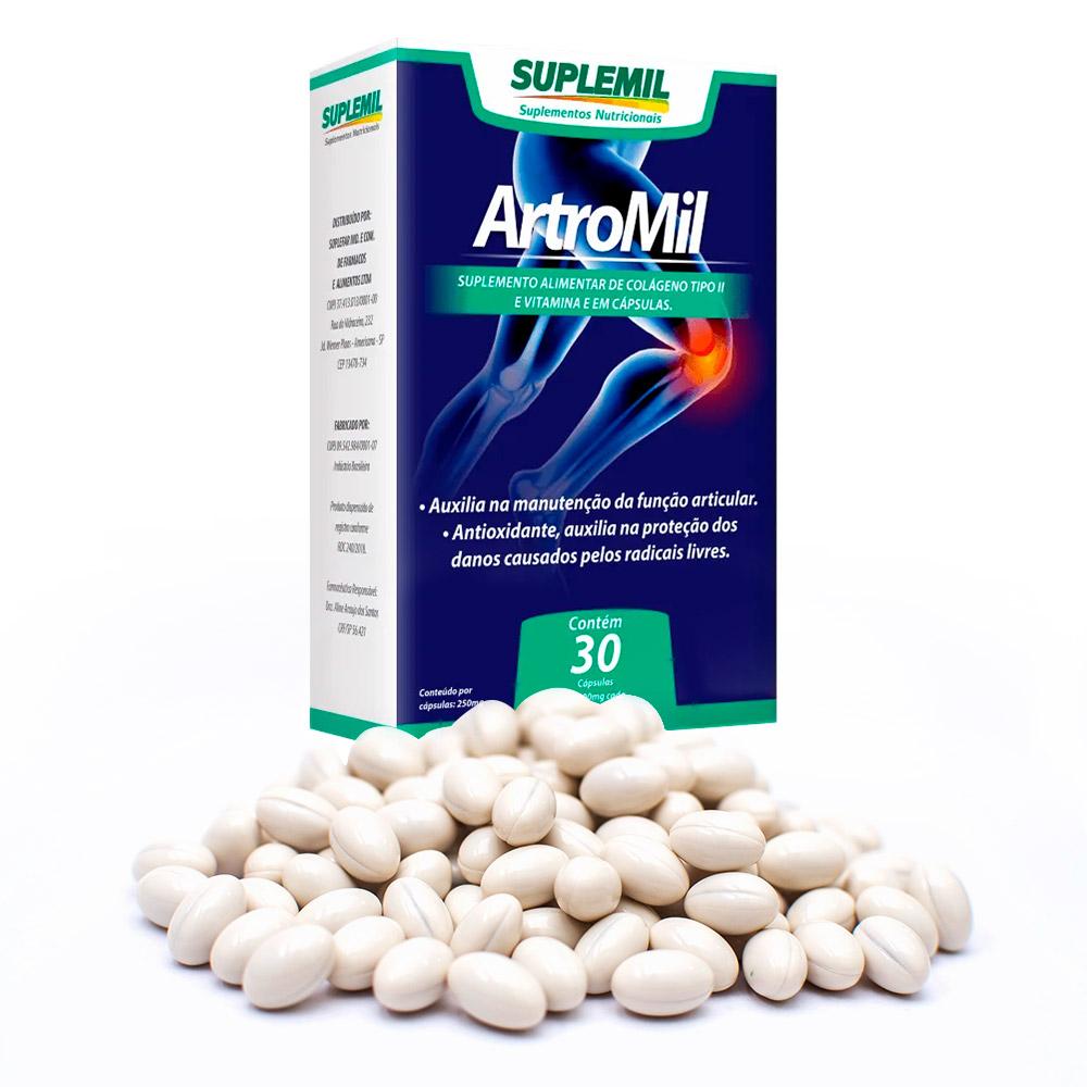 ArtroMil Suplemento Alimentar de Colágeno Tipo II + Vitamina E c/30