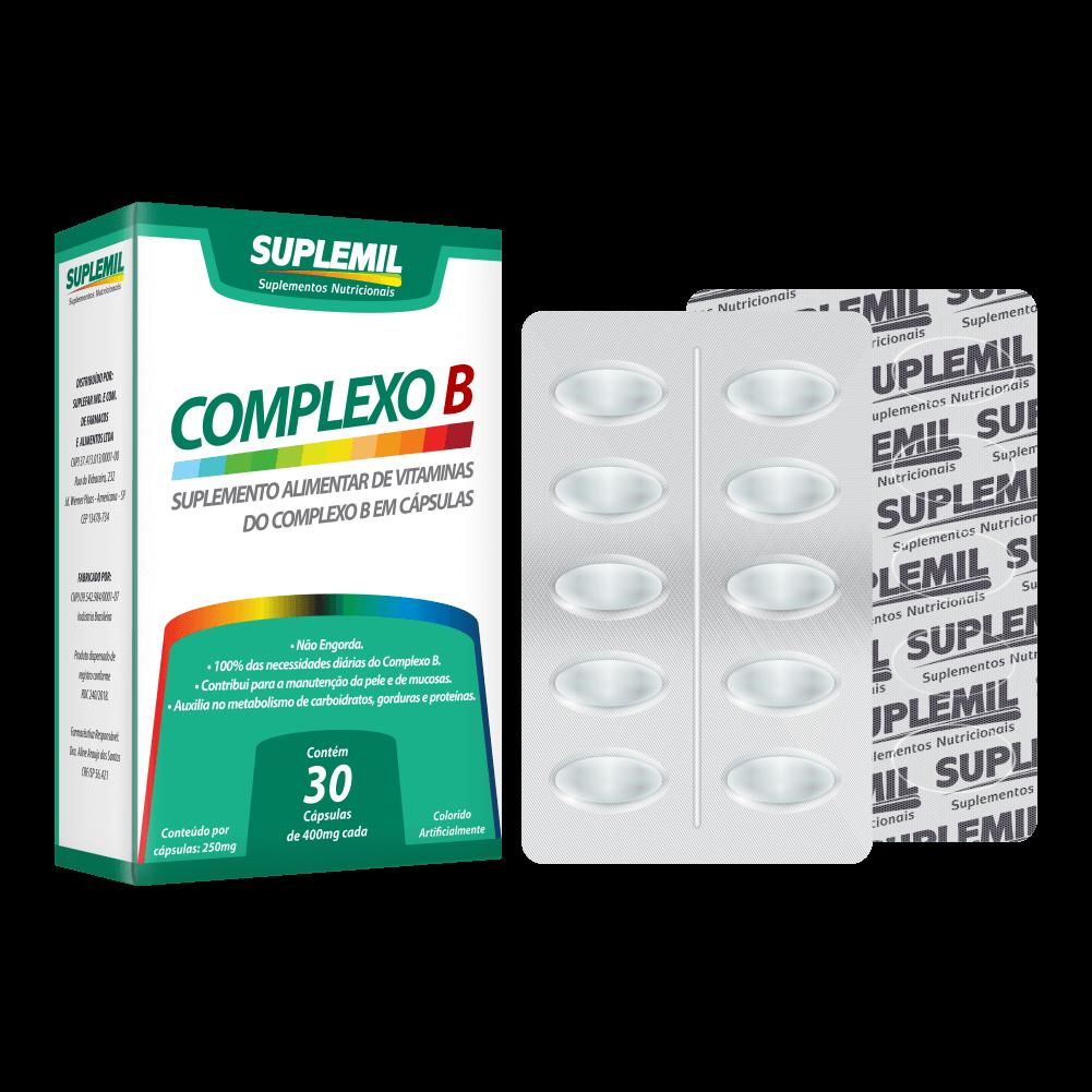 Complexo B – Suplemento Alimentar de Vitaminas do Complexo B c/30