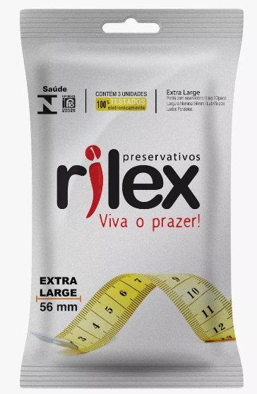 5557 PRESERVATIVO EXTRA LARGE RILEX C/3 UNID
