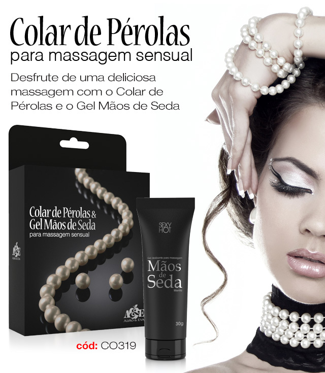 CO319 KIT GEL P/ MASSAGEM E COLAR PEROLAS MAOS DE SEDA