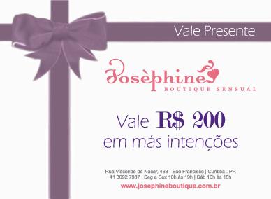 VALE PRESENTE R$ 200,00 EM MAS-INTENCOES