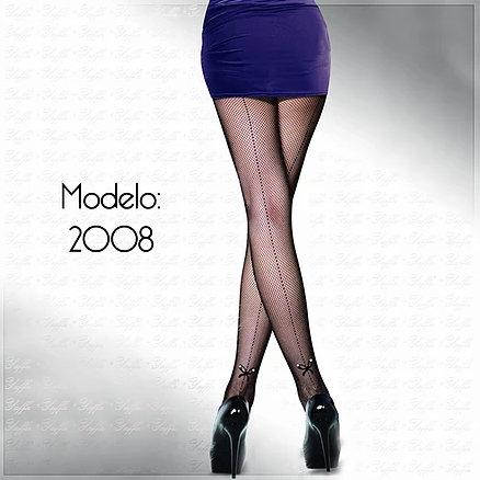 Y2008 MEIA CALCA C/ RISCA PR (U)