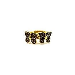 Anel Armazem RR Bijoux borboleta duplo ouro velho