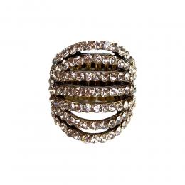 Anel Armazem RR Bijoux cristais vazados dourado