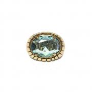 Anel Armazem RR Bijoux cristal swarovski azul ouro velho