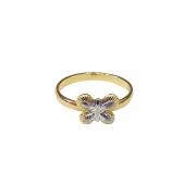 Anel Armazem RR Bijoux falange borboleta dourado