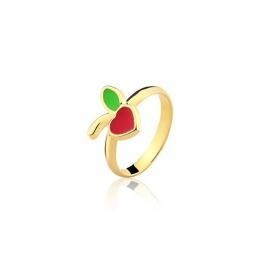 Anel Armazem RR Bijoux infantil maçã dourado