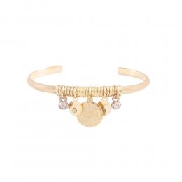 Bracelete Armazem RR Bijoux pingentes Pai Nosso dourado