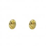 Brinco Armazem RR Bijoux cristal amarelo dourado