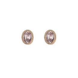 Brinco Armazem RR Bijoux cristal rose dourado