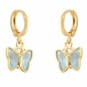 Brinco Infantil Armazem RR Bijoux borboleta azul