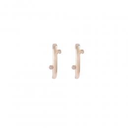 Brinco Armazem RR Bijoux Ear Hook reto cristais dourado