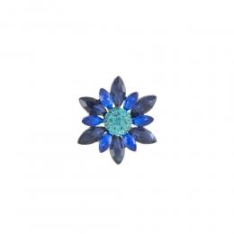 Broche Armazem RR Bijoux flor azul