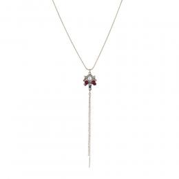 Colar Armazem RR Bijoux gravatinha cristais vermelho