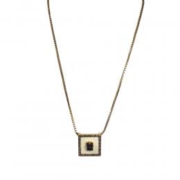 Colar curto Armazem RR Bijoux cristais Swarovski dourado