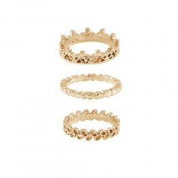 Kit Anéis Armazem RR Bijoux dourado