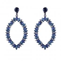 Maxi Brinco Armazem RR Bijoux gota cristais azul