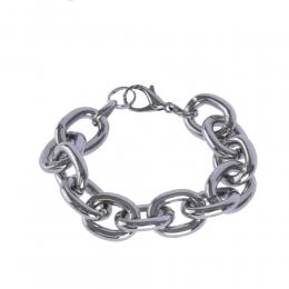 Pulseira Armazem RR Bijoux corrente prata
