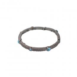 Pulseira Armazem RR Bijoux cristais azul grafite