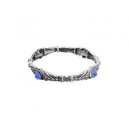 Pulseira Armazem RR Bijoux cristal azul